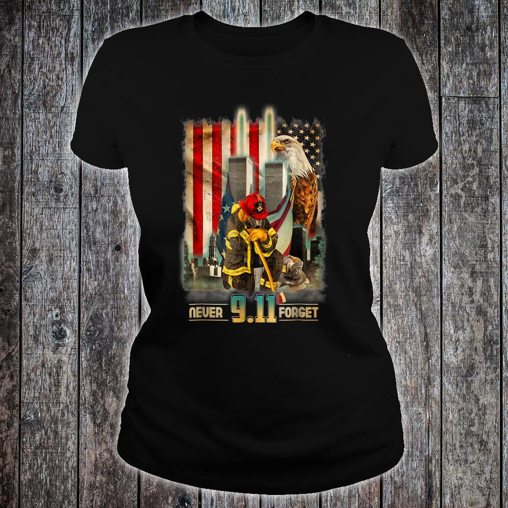 911 Patriot Day We Will Never Forget Shirt ladies tee