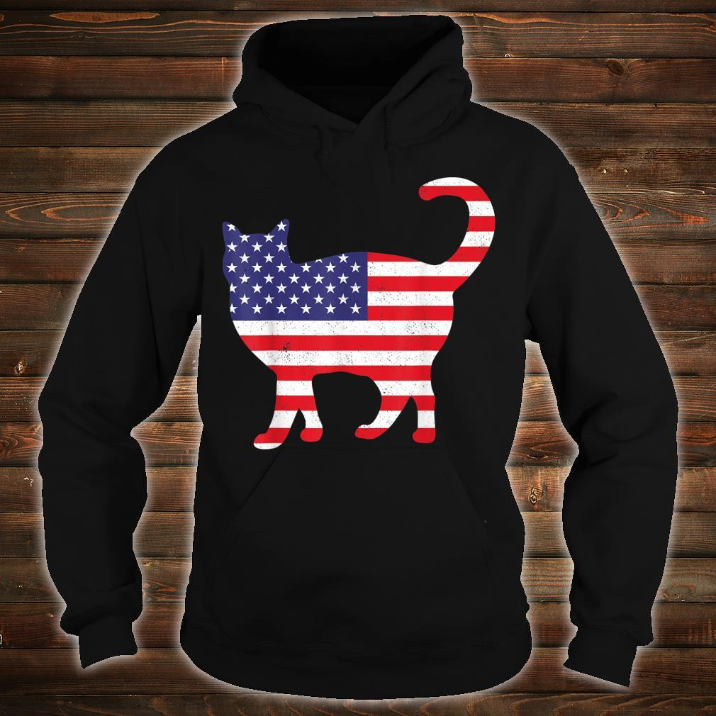USA Flag Cat 4th Of July Independence Day Animal Shirt hoodie